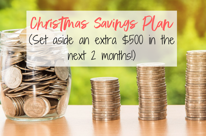 Make small changes with this Christmas Savings Plan and have an extra $500 for the holidays in 2 months!