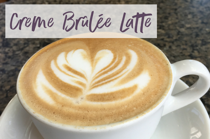 This Creme Brûlée latte is the perfect fall treat!